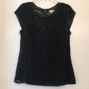 Pixley black lace top